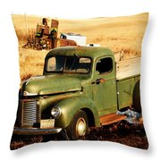 Old Pickup  Throw Pillow