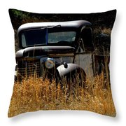 Old Pickup Truck Throw Pillow