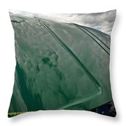 Old Pickup Truck Hood Throw Pillow