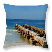 Old Pier Throw Pillow
