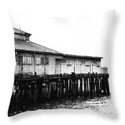 Old Pier Throw Pillow