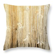 Old Planked Wood Used As Background Throw Pillow