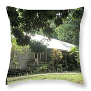 Old Plantation House Throw Pillow