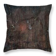 Old Plastered And Painted Wall Throw Pillow