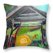 Old Plyler Mill Haybard Throw Pillow