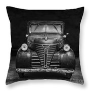 Old Plymouth Truck Square Throw Pillow