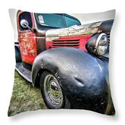 Old Plymouth Truck Throw Pillow