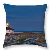 Old Port Boca Grande Lighthouse Throw Pillow