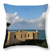 Old Port Lookout Point Throw Pillow