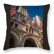 Old Post Office Washington D C Throw Pillow