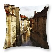 Old Prague Throw Pillow
