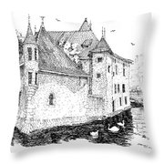 Old Prison Of Annecy France Throw Pillow