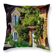Old Provencal Village Street Throw Pillow