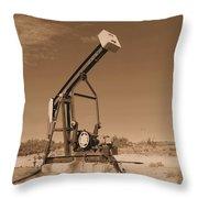 Old Pumpjack  Artesia New Mexico Throw Pillow