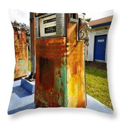 Old Pumps At Pinecrest Throw Pillow