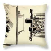 Old Push Button Light Switch Throw Pillow