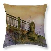 Old Railroad Bridge II Throw Pillow