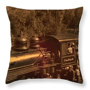 Old Railway Through Cuenca Throw Pillow