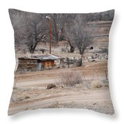 Old Ranch House Throw Pillow