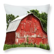 Old Red Barn Johnson County Ia Throw Pillow