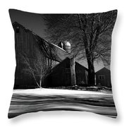 Old Red Barn Throw Pillow