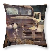 Old Red Dodge Truck Throw Pillow