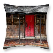 Old Red Door Throw Pillow