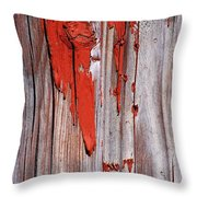 Old Red Paint Throw Pillow