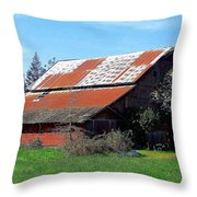 Old Red Photograph Throw Pillow