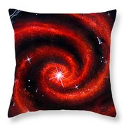 Old Red Spiral Galaxy Throw Pillow