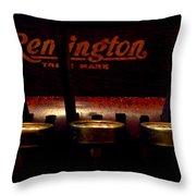 Old Remington Cash Register Throw Pillow