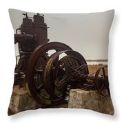 Old Rice Well Pump Throw Pillow