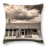 Old Rio Grande Train Stop Throw Pillow
