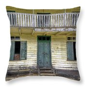 Old River House Throw Pillow