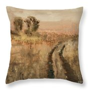 Old Road Throw Pillow
