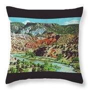 Old Roads To Chama Throw Pillow