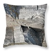 Old Rock Background Throw Pillow