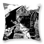 Old Rocky Mill Throw Pillow by Deleas Kilgore