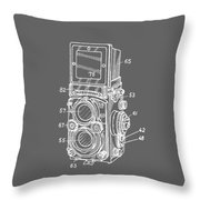 Old Rollie Vintage Camera White T-shirt Throw Pillow
