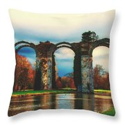 Old Roman Aqueduct Throw Pillow
