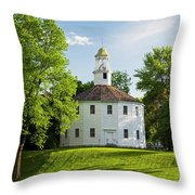 Old Round Church Spring Throw Pillow