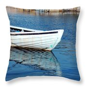 Old Row Boat Throw Pillow
