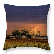 Old Rte 66 Lightning 8 48 16 P Throw Pillow