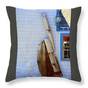 Old Rudder Throw Pillow