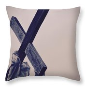 Old Rugged Cross Throw Pillow