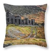 Old Ruin At Cwmorthin Throw Pillow