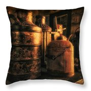Old Rustic Cans Throw Pillow