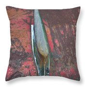 Old Rusty Hood At 9000 Feet Rocky Mountains Co Throw Pillow