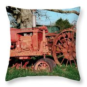 Old Rusty Tractors Throw Pillow