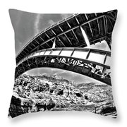 Old Salt River Bridge - Arizona Throw Pillow